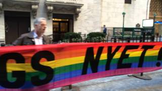 Queer Nation NY at Russia Day at NYSE 3