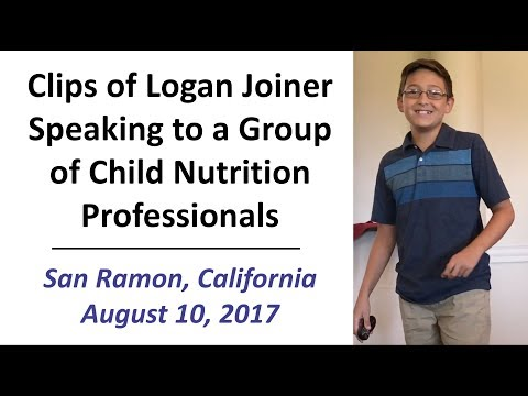 Clips of Logan Joiner Speaking to a Group of Child Nutrition Professionals