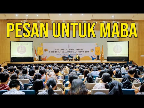 PESAN RADITYA DIKA UNTUK MAHASISWA BARU