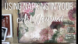 Art Journaling with Napkins