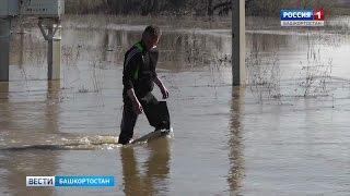 В Кугарчинском районе Башкирии затопило деревню