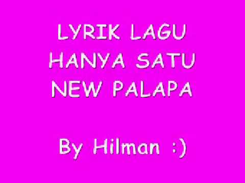 New Pallapa Hanya Satu Tasya Rosmala Feat Gerry Mahesa (Lyrik)