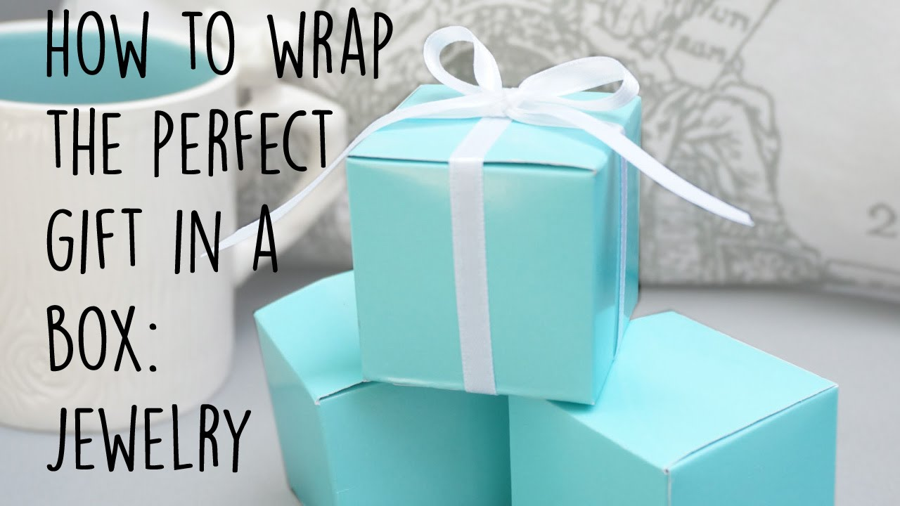 How to wrap a box present-Easy and simple jewelry gift wrap DIY hack ...