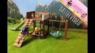 Playmobil - Spielturm mit Rutsche - Bastel Video für Playmobilsammlung von Familie Mathes