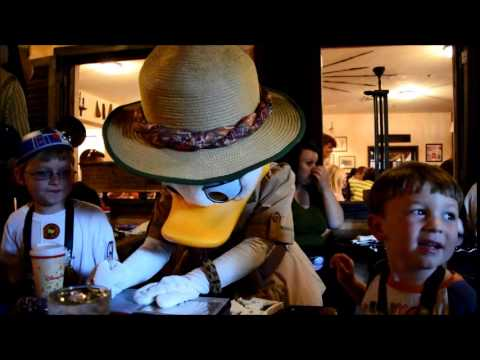Animal Kingdom Tusker House Character lunch - YouTube