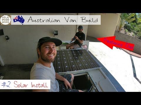 Australian Van Build #2 Solar And Battery Install