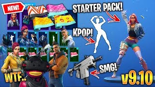*NEW* All Fortnite v9.10 Leaked Skins & Emotes! (Starter Pack 7, Takara, Lock It Up, Billy Bounce)