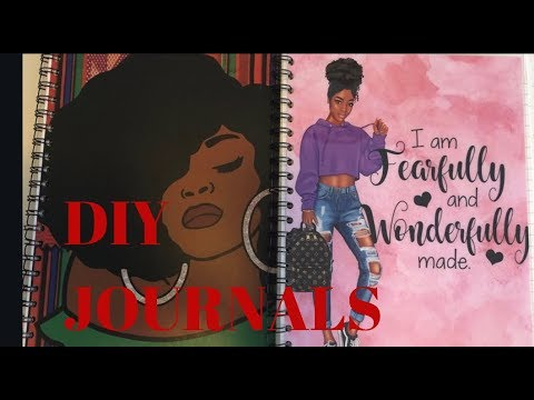 DIY Journal/ How to make a Journal/Binding with Cinch/Canva.com