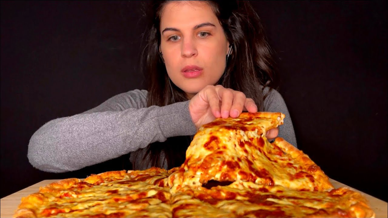 ASMR | LARGE CHEESE PIZZA | EATING SOUNDS | MUKBANG
