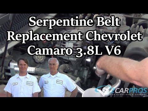 serpentine belt replacement chevrolet camaro 3 8l v6 1995 2002 youtube rh youtube com