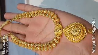 Latest Gold Bridal set With weight