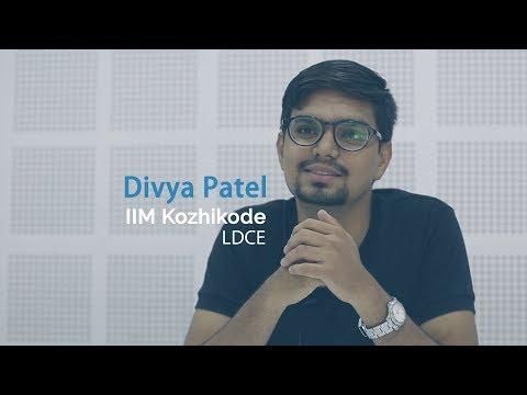 """I'll miss the group studies the most""   Divya Patel - IIM Kozhikode   Endeavor's Pride"
