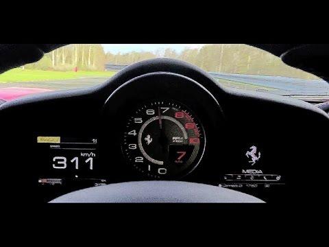 0 - 300 km/h en Ferrari 488 GTB 2016