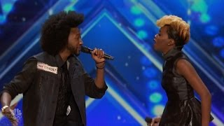 America's Got Talent 2016 Raii & Whitney Smith Married Duet Full Audition Clip S11E05