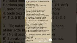 MiQ sınağı Ədəbiyyatın izahı (Eyvaz müəllim)
