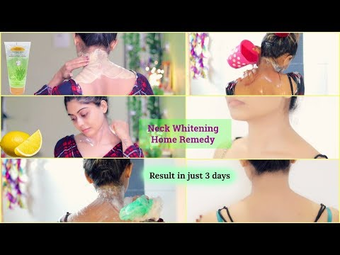 NECK WHITENING AT HOME | How to Get Rid of Dark Neck in 15 Minutes | Rinkal Soni