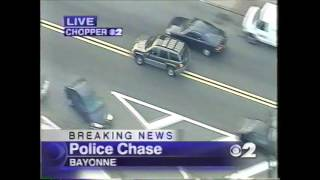 New Jersey Police Car Chase Caught on Tape (2003)