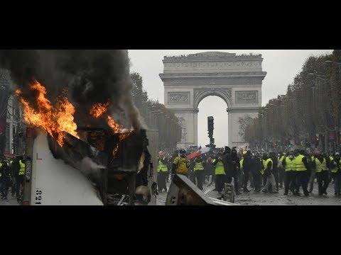 Acte 19 des Gilets jaunes en France : slogans anti-Macron, Partager et Abonnez-vous