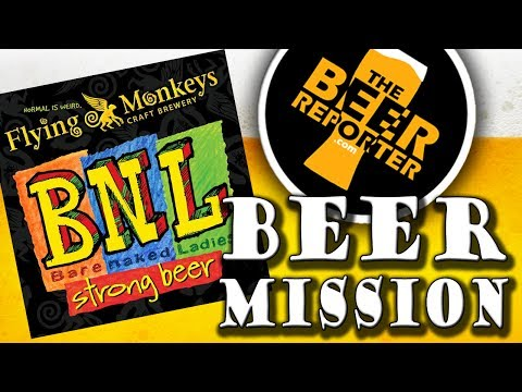 BEER MISSION #5 - FLYING MONKEYS BNL IMPERIAL CHOCOLATE STOUT - The Beer Reporter