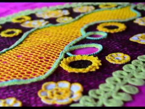 Camino de mesa tejido en la técnica de crochet irlandés. - YouTube