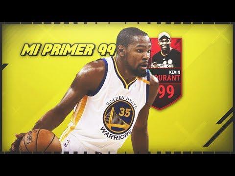 MI PRIMERA CARTA 99 MED!!! KEVIN DURANT MVP  en NBA LIVE MOBILE.