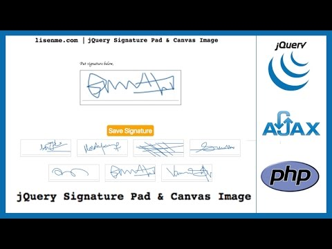 E Signature Pad Using Jquery Ajax And Php Digital Signature Pad On Submission Form
