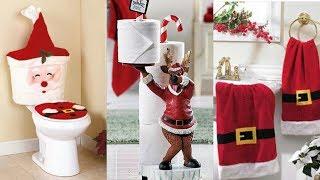 DECORACIÓN de NAVIDAD para BAÑOS   Ideas de adornos navideños que te encantarán!! 2018 2019