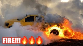 i-set-my-truck-on-fire-doing-a-massive-burnout