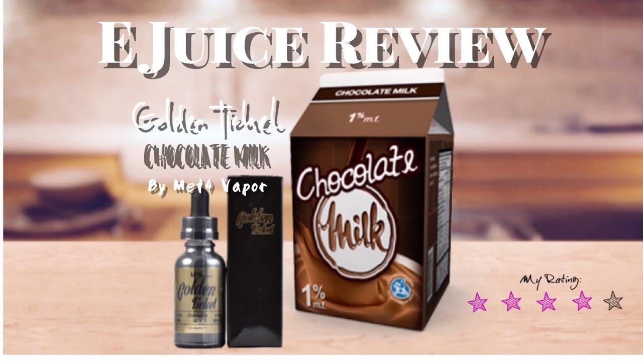 E Juice Review -Golden Ticket Chocolate Milk by Met4 Vapors