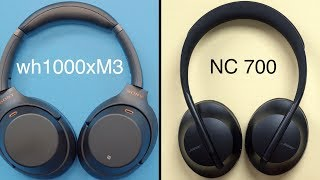Bose Noise Cancelling Headphones 700's vs Sony WH1000XM3's
