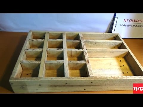 How to make a wooden toolbox from old pallet