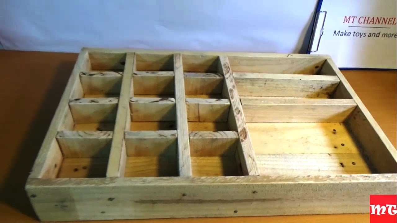 How To Make A Wooden Toolbox From Old Pallet Youtube