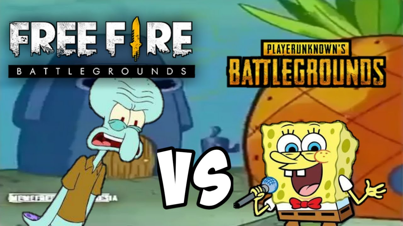 Meme free fire vs pubg spongebob