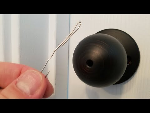 How To Pick Locks Of Indoor Bedroom Bathroom With Paper Clips Youtube