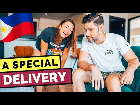 A SPECIAL DELIVERY - BUT did HE like it??  MANILA Vlog