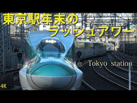 【4K】JR東日本東京駅年末のラッシュアワー