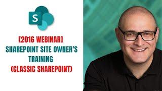 SharePoint Power User/Site Owner Training