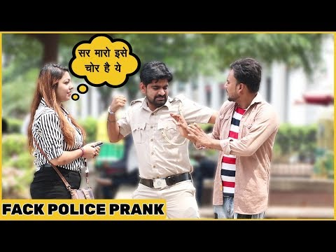 Fake Police Prank On Cute Girls Ft. The Hungama  Films| Funky Joker