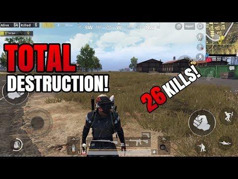 TOTAL DESTRUCTION! | 26 Kills Solo VS Squad | PUBG Mobile