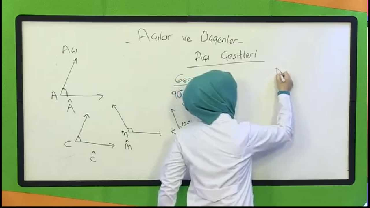 Ilkogretim 4 Sinif Matematik Acilar Ucgenler Youtube