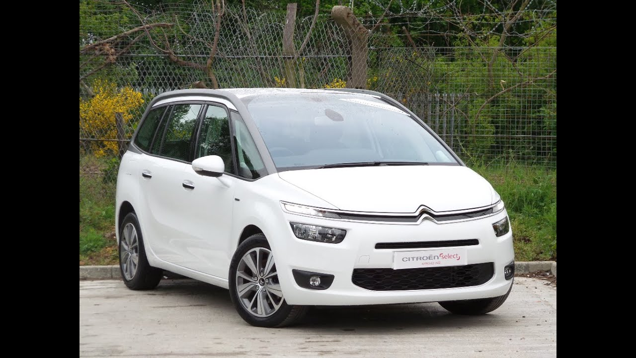 2015 15 citroen c4 grand picasso 2 0 bluehdi exclusive 5dr in white youtube. Black Bedroom Furniture Sets. Home Design Ideas