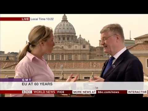 Markku Markkula celebrating 60 years of Rome Treaty - BBC World