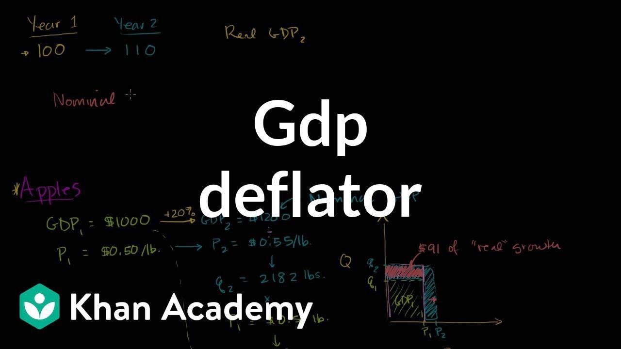 GDP deflator (video)   Real vs  nominal GDP   Khan Academy