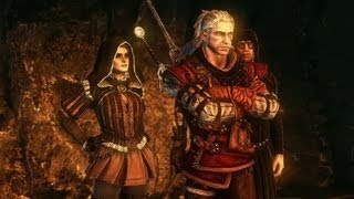 Geralt And Cynthia Solve Secrets Of Loc Muinne (Witcher 2   Riddle Puzzle Walkthrough)