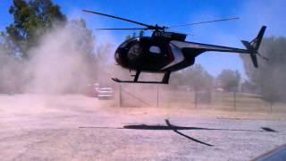 Hughes 500C landing Santa Ysabel, California
