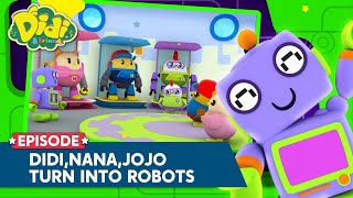 Didi, Nana & Jojo Turn Into Robots!   Nursery Rhymes & Song For Kids   Didi & Friends English