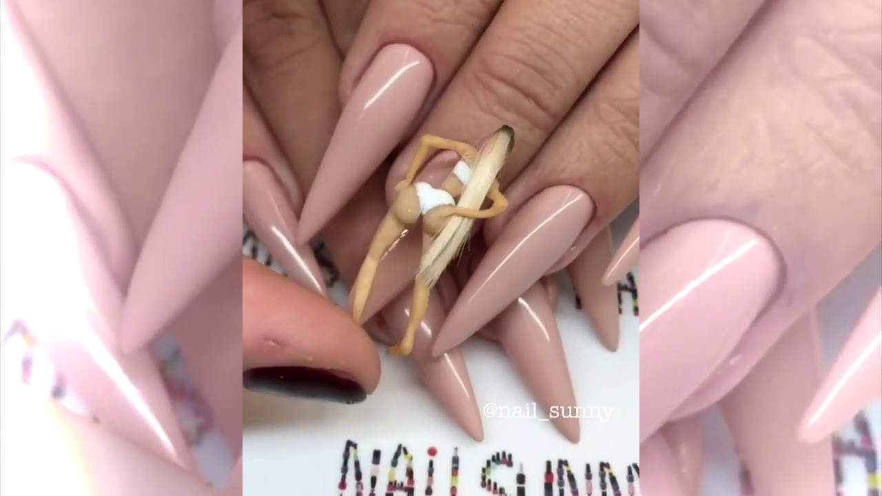 WOW!!! Kim Kardashian nail design!!! - YouTube