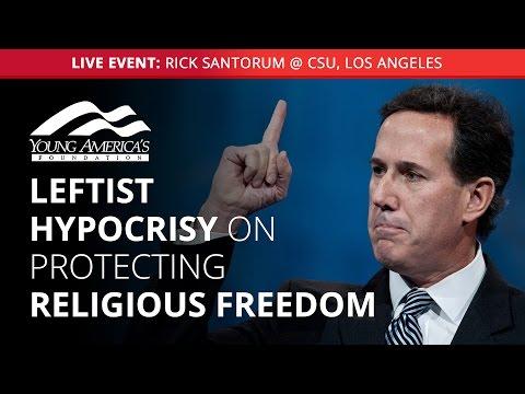 Rick Santorum LIVE at CSU, Los Angeles