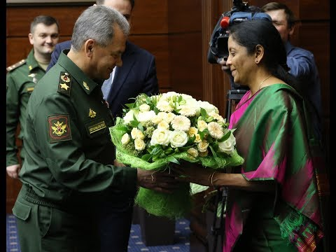 RAKSHA MANTRI MET RUSSIAN DEFENCE MINISTER GENERAL SERGEY SHOYGU IN MOSCOW