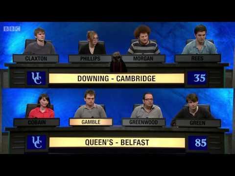 University Challenge S43E18 Downing, Cambridge vs Queen's Belfast
